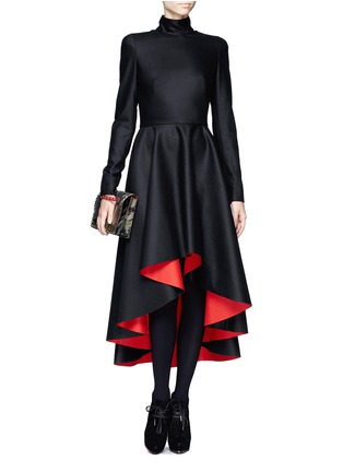 Figure View - Click To Enlarge - Alexander McQueen - Mandarin collar high-low dress
