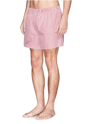 Sunspel - Classic gingham check boxer shorts
