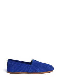 TOMSWoven suede classic slip-ons