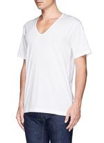 纯棉V领T恤