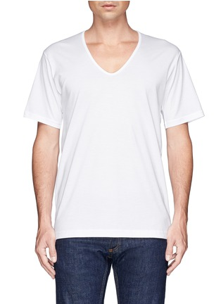 首图 - 点击放大 - SUNSPEL - 纯棉V领T恤