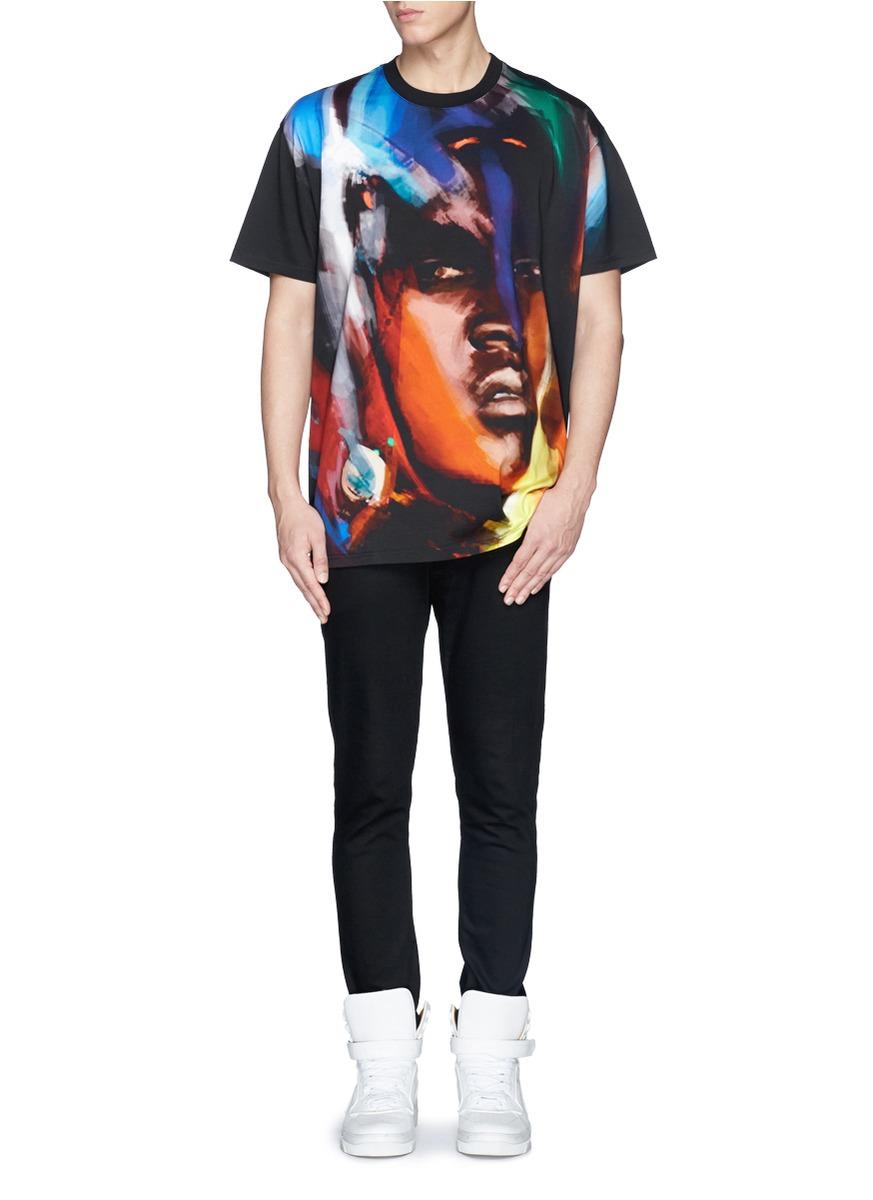 givenchy african face print t shirt on sale black short sleeves t shirts menswear lane. Black Bedroom Furniture Sets. Home Design Ideas