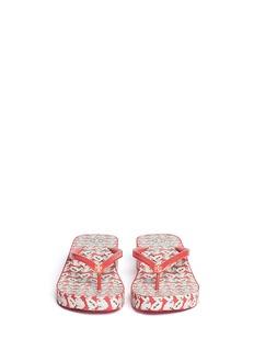 TORY BURCH'Thandie' floral print wedge flip-flops