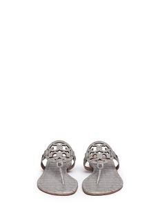 TORY BURCH'Miller' crocodile print thong sandals