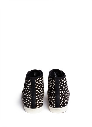Back View - Click To Enlarge - Tory Burch - 'Marin' dot calf hair high-top sneakers