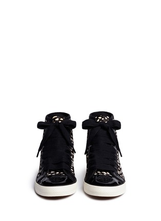 Figure View - Click To Enlarge - Tory Burch - 'Marin' dot calf hair high-top sneakers