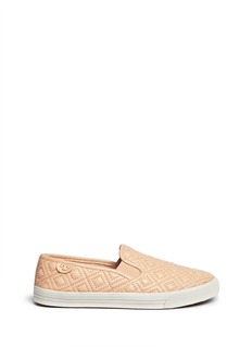 TORY BURCH'Jesse' quilted leather slip-ons