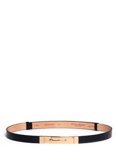 MAISON BOINETSkinny leather latch buckle belt