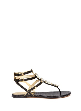 Main View - Click To Enlarge - Michael Kors - Jayden' lizard-embossed leather sandals