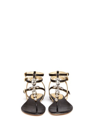 Figure View - Click To Enlarge - Michael Kors - Jayden' lizard-embossed leather sandals