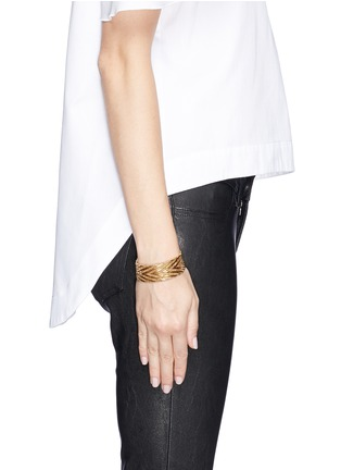 Figure View - Click To Enlarge - Givenchy - Chevron metal chain bracelet