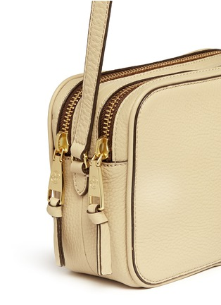 Detail View - Click To Enlarge - Tory Burch - 'Robinson' double zip leather crossbody bag