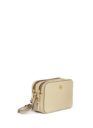 Front View - Click To Enlarge - Tory Burch - 'Robinson' double zip leather crossbody bag
