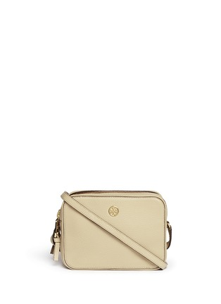 Main View - Click To Enlarge - Tory Burch - 'Robinson' double zip leather crossbody bag