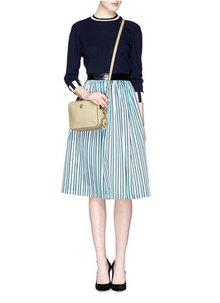 Figure View - Click To Enlarge - Tory Burch - 'Robinson' double zip leather crossbody bag