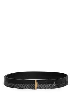 HAIDER ACKERMANN'Wilcox' python leather panel belt