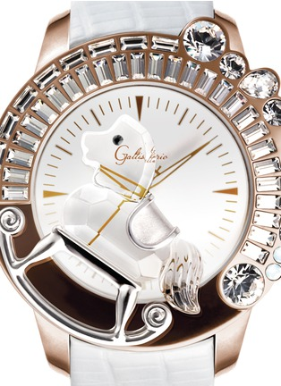Detail View - Click To Enlarge - Galtiscopio - 'La Giostra I' rocking horse crystal watch