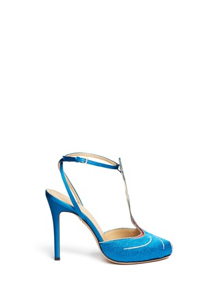Main View - Click To Enlarge - Charlotte Olympia - 'Anna May Wong' metallic embroidery pumps