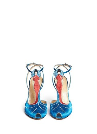Figure View - Click To Enlarge - Charlotte Olympia - 'Anna May Wong' metallic embroidery pumps