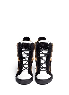 GIUSEPPE ZANOTTI DESIGNTri-colour wedge high top sneakers
