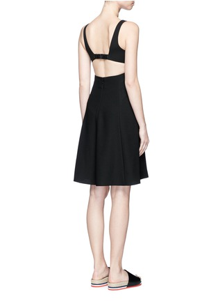 Back View - Click To Enlarge - T By Alexander Wang - Cutout back crepe midi dress