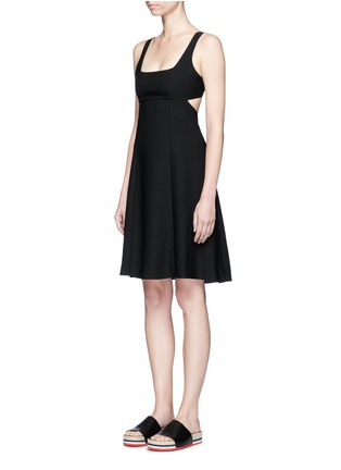 Front View - Click To Enlarge - T By Alexander Wang - Cutout back crepe midi dress