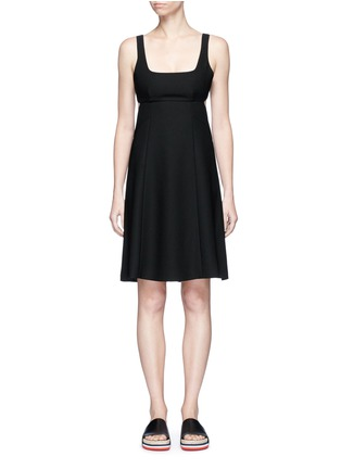 Main View - Click To Enlarge - T By Alexander Wang - Cutout back crepe midi dress