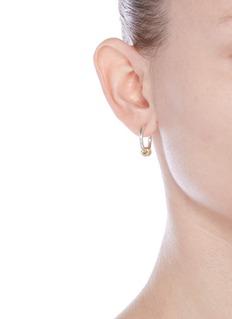Spinelli Kilcollin'Ara SG' diamond 18k yellow gold sterling silver hoop earrings