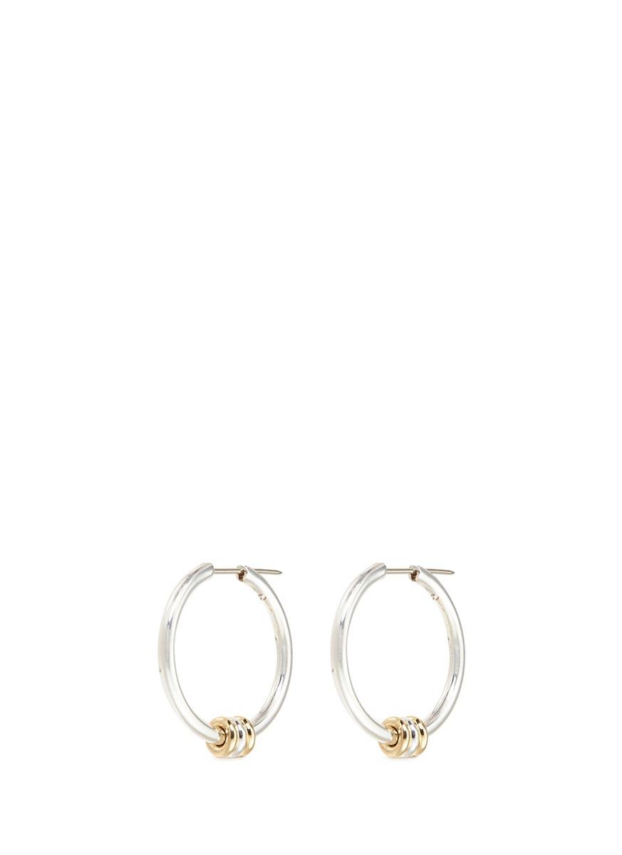 spinelli kilcollin female argo sg 18k yellow gold sterling silver hoop earrings