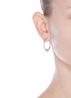 Spinelli Kilcollin'Argo SG' 18k yellow gold sterling silver hoop earrings