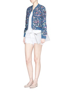 Needle & Thread 'Wild Flower embroidered denim bomber jacket