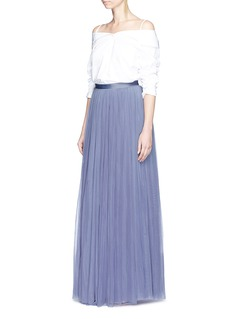 Needle & Thread Layered tulle maxi skirt
