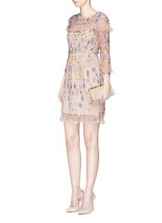 Needle & Thread 'Flowerbed' beaded floral embroidered tulle dress