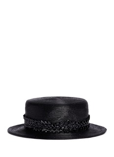 Gigi Burris Millinery'Agnes' woven band coated straw boater hat
