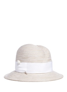 Gigi Burris Millinery 'Nell' mother of pearl pin straw fedora hat