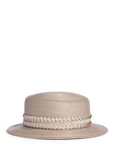 Gigi Burris Millinery 'Agnes' woven band coated straw boater hat