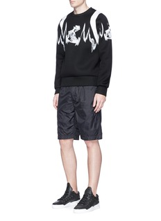 MCM x Christopher Raeburn 'Sonic Wave' print backpack trim sweatshirt