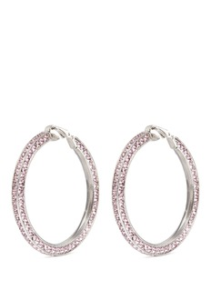 Kenneth Jay Lane Crystal pavé hoop clip earrings