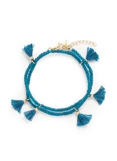Shashi'Laila' tassel beaded double wrap bracelet