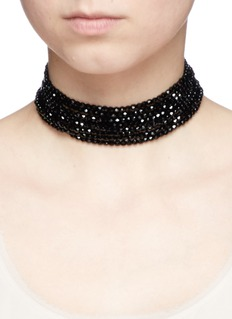Kenneth Jay Lane Tiered beaded collar necklace