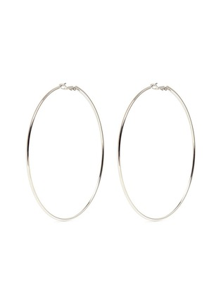 Main View - Click To Enlarge - Kenneth Jay Lane - Rhodium plated large hoop earrings