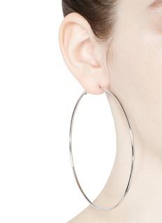 Kenneth Jay LaneRhodium plated large hoop earrings