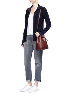 Norma Kamali'Turtle' raw-cut reversible zip jacket