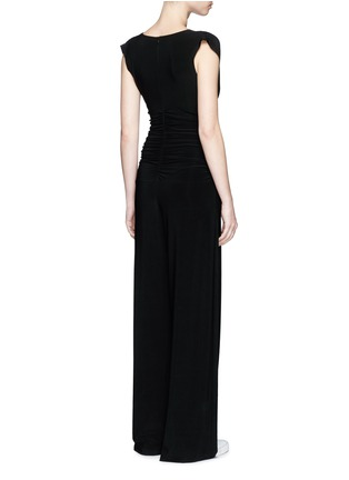 Back View - Click To Enlarge - Norma Kamali - Ruched overlay jumpsuit