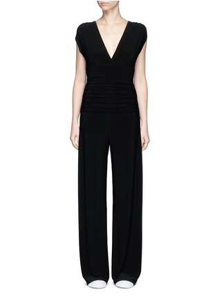 Main View - Click To Enlarge - Norma Kamali - Ruched overlay jumpsuit