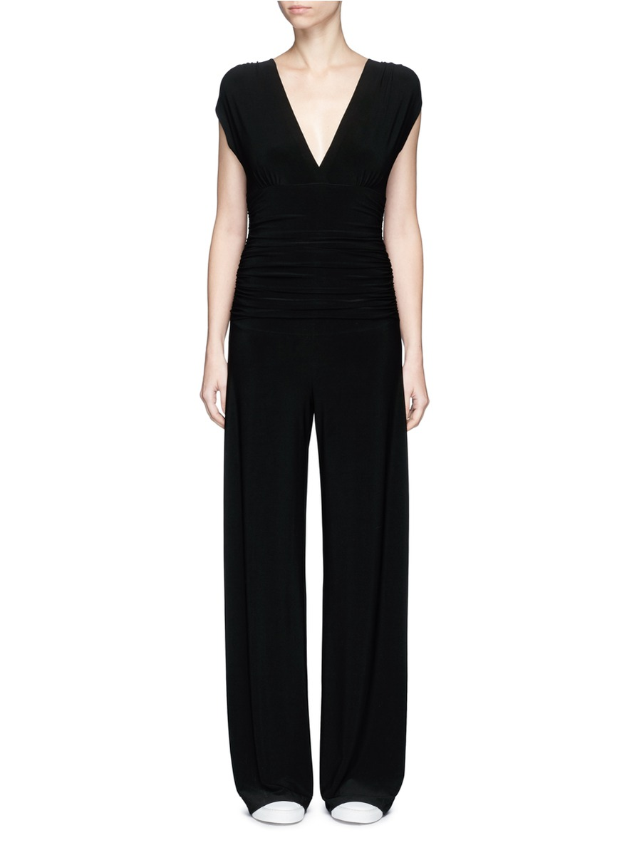 Ruched overlay jumpsuit by Norma Kamali