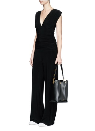 Figure View - Click To Enlarge - Norma Kamali - Ruched overlay jumpsuit