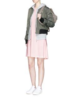 Norma KamaliStretch jersey sleeveless swing dress