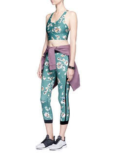 The Upside 'Deep Sea Floral NYC' performance capri leggings