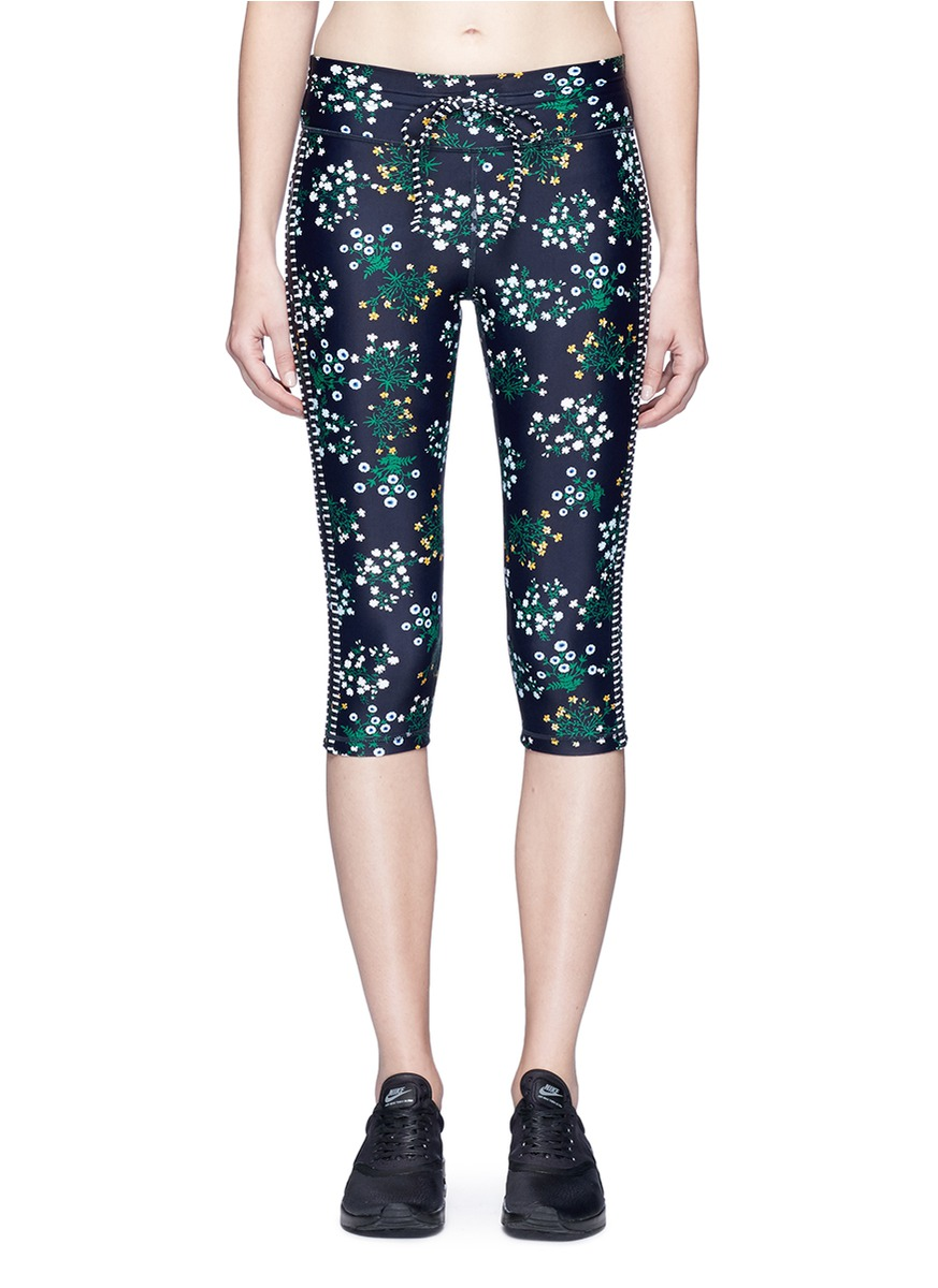Ditsy Power Pant floral print cropped performance leggings by The Upside